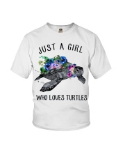 Just a girl who loves turtles Youth T-Shirt thumbnail