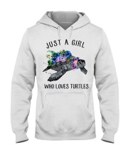 Just a girl who loves turtles Hooded Sweatshirt thumbnail