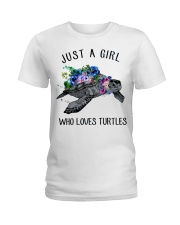 Just a girl who loves turtles Ladies T-Shirt thumbnail