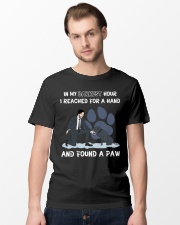 In my darkest hour I reached for a hand Classic T-Shirt lifestyle-mens-crewneck-front-15