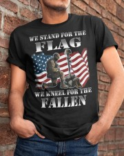 Veteran we stand for the flag we kneel for the fal Classic T-Shirt apparel-classic-tshirt-lifestyle-26