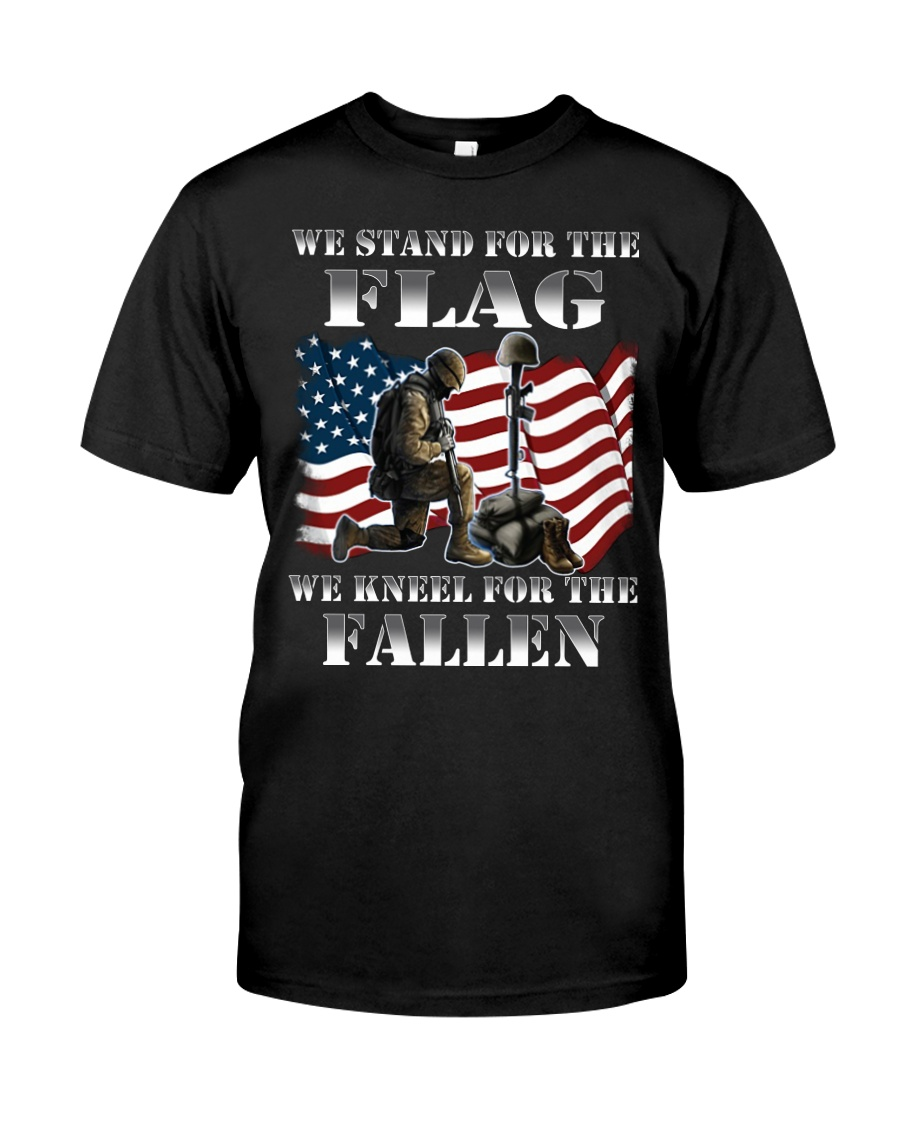 Veteran we stand for the flag we kneel for the fal Classic T-Shirt