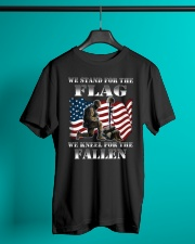 Veteran we stand for the flag we kneel for the fal Classic T-Shirt lifestyle-mens-crewneck-front-3