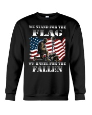 Veteran we stand for the flag we kneel for the fal Crewneck Sweatshirt thumbnail