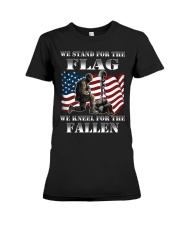 Veteran we stand for the flag we kneel for the fal Premium Fit Ladies Tee thumbnail