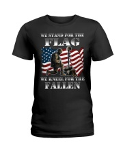 Veteran we stand for the flag we kneel for the fal Ladies T-Shirt thumbnail