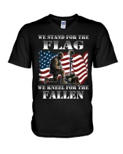 Veteran we stand for the flag we kneel for the fal V-Neck T-Shirt thumbnail