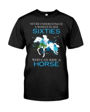 Never underestimate a woman in her sixties Premium Fit Mens Tee thumbnail