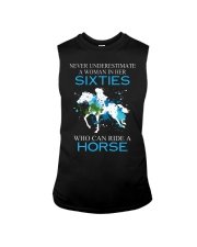 Never underestimate a woman in her sixties Sleeveless Tee thumbnail