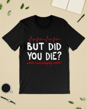 But did you die while i was playing cards Premium Fit Mens Tee lifestyle-mens-crewneck-front-19