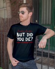 But did you die while i was playing cards Premium Fit Mens Tee lifestyle-mens-crewneck-front-2