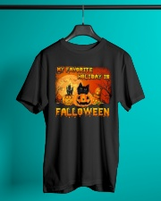 My favorite holiday is falloween Classic T-Shirt lifestyle-mens-crewneck-front-3