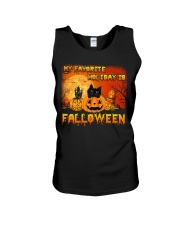 My favorite holiday is falloween Unisex Tank thumbnail