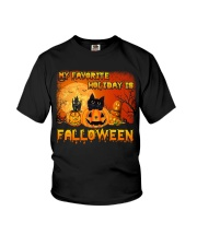 My favorite holiday is falloween Youth T-Shirt thumbnail