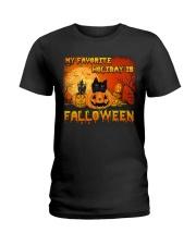 My favorite holiday is falloween Ladies T-Shirt thumbnail