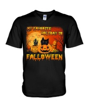 My favorite holiday is falloween V-Neck T-Shirt thumbnail