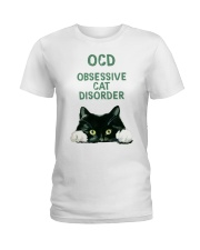 OCD obsessive cat disorder Ladies T-Shirt front