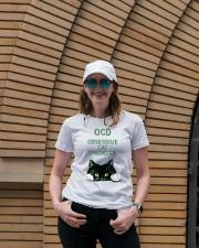 OCD obsessive cat disorder Ladies T-Shirt lifestyle-women-crewneck-front-4