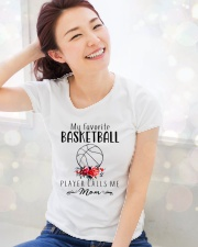 my favorite basketball player calls me mom Ladies T-Shirt lifestyle-holiday-womenscrewneck-front-1