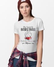 my favorite basketball player calls me mom Ladies T-Shirt lifestyle-women-crewneck-front-9