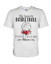 my favorite basketball player calls me mom V-Neck T-Shirt thumbnail