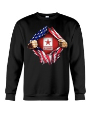 Us army inside me american flag Crewneck Sweatshirt thumbnail