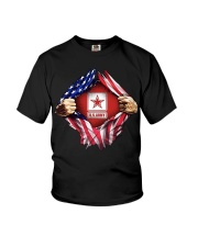Us army inside me american flag Youth T-Shirt thumbnail