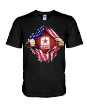 Us army inside me american flag V-Neck T-Shirt thumbnail