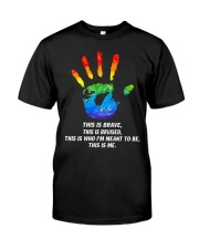 Hand LGBT this is brave this is bruised Premium Fit Mens Tee thumbnail