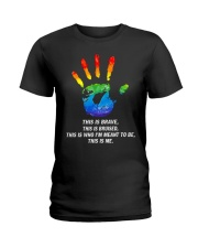 Hand LGBT this is brave this is bruised Ladies T-Shirt front