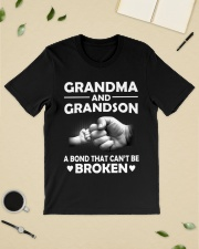 Grandma and grandson a bond that cant be broke  Premium Fit Mens Tee lifestyle-mens-crewneck-front-19