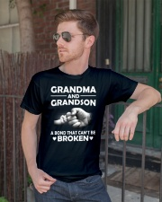 Grandma and grandson a bond that cant be broke  Premium Fit Mens Tee lifestyle-mens-crewneck-front-2