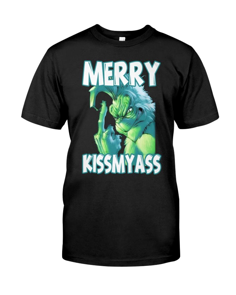 Merry Kissmyass Premium Fit Mens Tee