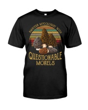 Amateur mycologist with questionable morels Premium Fit Mens Tee front