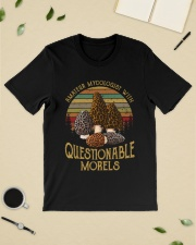 Amateur mycologist with questionable morels Premium Fit Mens Tee lifestyle-mens-crewneck-front-19