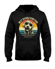 Best doodle dad ever vintage Hooded Sweatshirt thumbnail