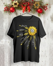 Sunflower you are my sunshine Premium Fit Mens Tee lifestyle-holiday-crewneck-front-2