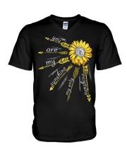 Sunflower you are my sunshine V-Neck T-Shirt thumbnail