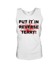 Put it in reverse Terry Unisex Tank tile