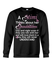 A mimi thinks about her grandchildren day Crewneck Sweatshirt thumbnail