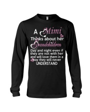 A mimi thinks about her grandchildren day Long Sleeve Tee thumbnail