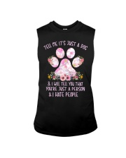 Tell me It's just a dog and I will tell you floral Sleeveless Tee thumbnail