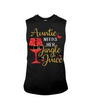 Auntie needs her jingle juice glitter Christmas  Sleeveless Tee thumbnail
