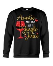 Auntie needs her jingle juice glitter Christmas  Crewneck Sweatshirt thumbnail