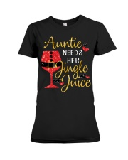Auntie needs her jingle juice glitter Christmas  Premium Fit Ladies Tee thumbnail