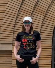 Auntie needs her jingle juice glitter Christmas  Ladies T-Shirt lifestyle-women-crewneck-front-4