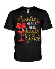 Auntie needs her jingle juice glitter Christmas  V-Neck T-Shirt thumbnail