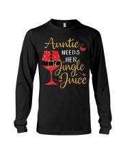 Auntie needs her jingle juice glitter Christmas  Long Sleeve Tee thumbnail