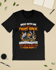 Mess with me I'll fight back mess with my daughter Premium Fit Mens Tee lifestyle-mens-crewneck-front-19