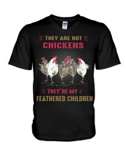 They are not chickens they're my feathered  V-Neck T-Shirt thumbnail